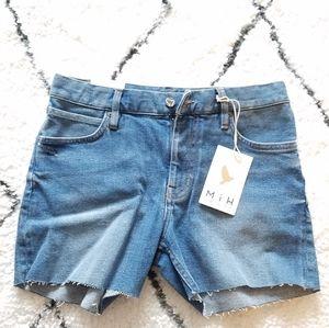 Brand new M.I.H denim shorts